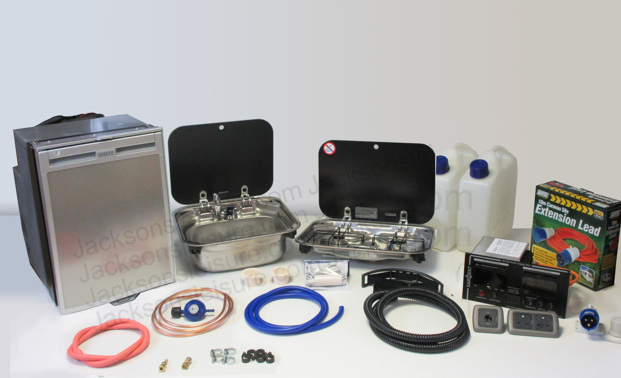 Dometic Smev 8005 Sink & Smev 8002 Campervan Caravan Motorhome Conversion Kit with Cold Tap and Gaz Regulator