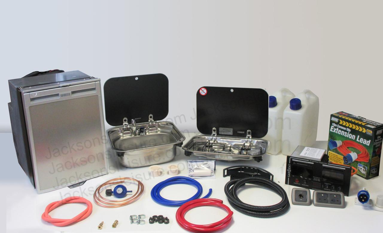Dometic Smev 8005 Sink & Smev 8002 Campervan Caravan Motorhome Conversion Kit with Mixer Tap and Gaz Regulator