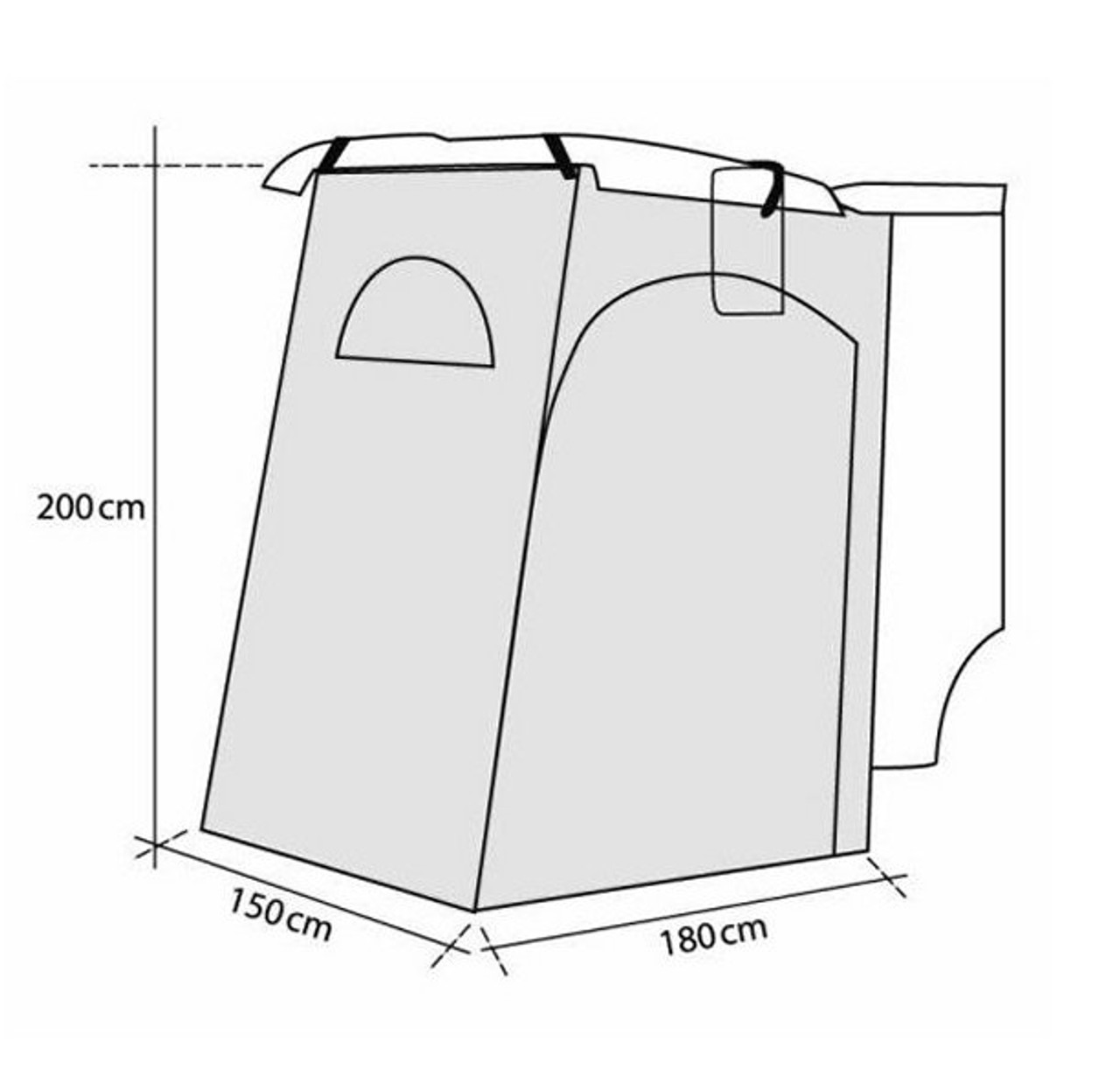 Reimo Fritz-Rear 2 Tailgate Tent for VW T5 T6 or similar ...