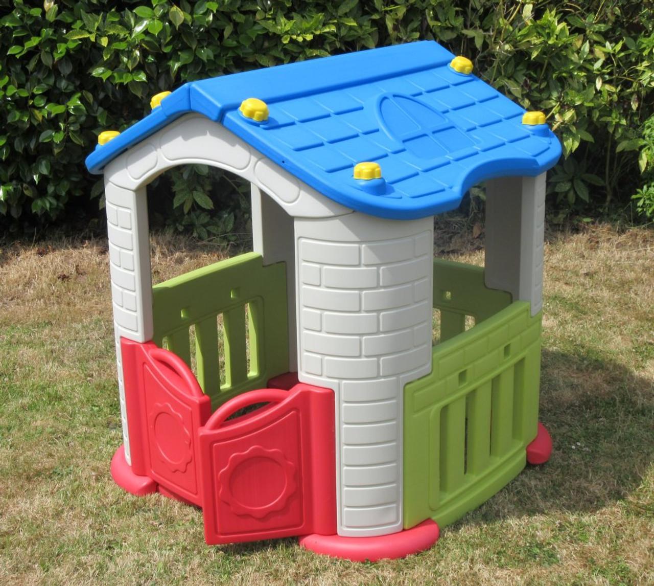 Sunshine Childrens Playhouse Blue Roof Red Doors