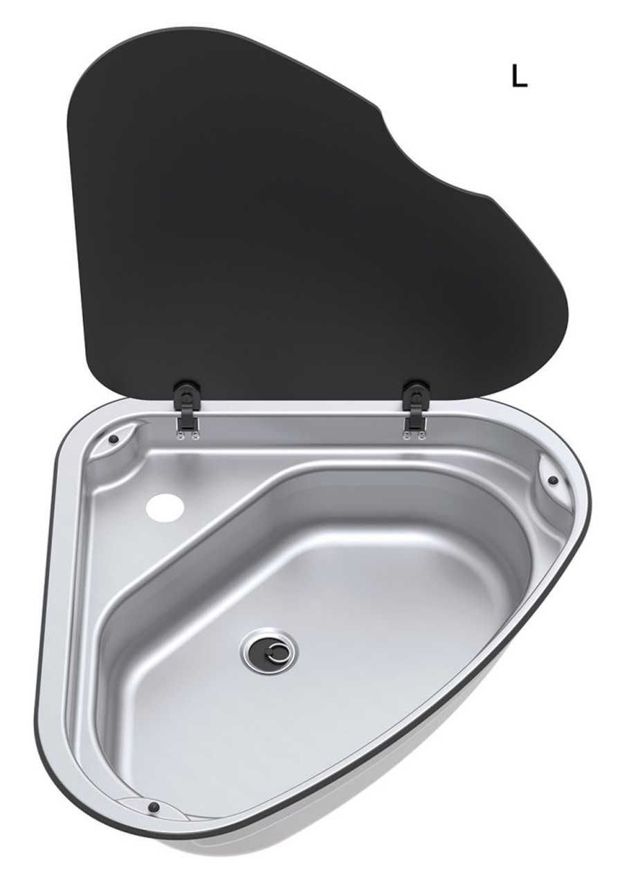 Thetford Spinflo Triangular sink with tap hole - Left Hand Version