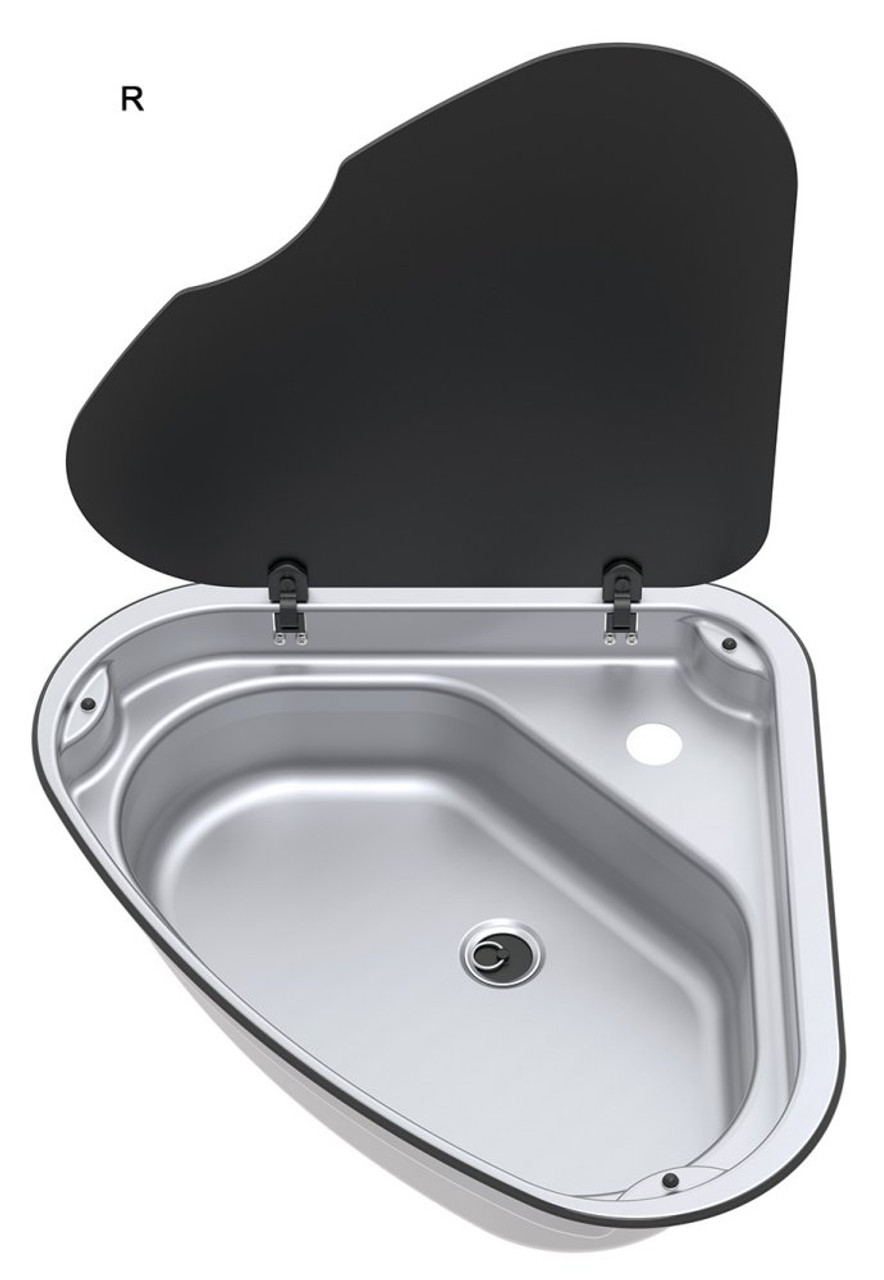 Thetford Spinflo Triangular sink with tap hole - Right Hand Version