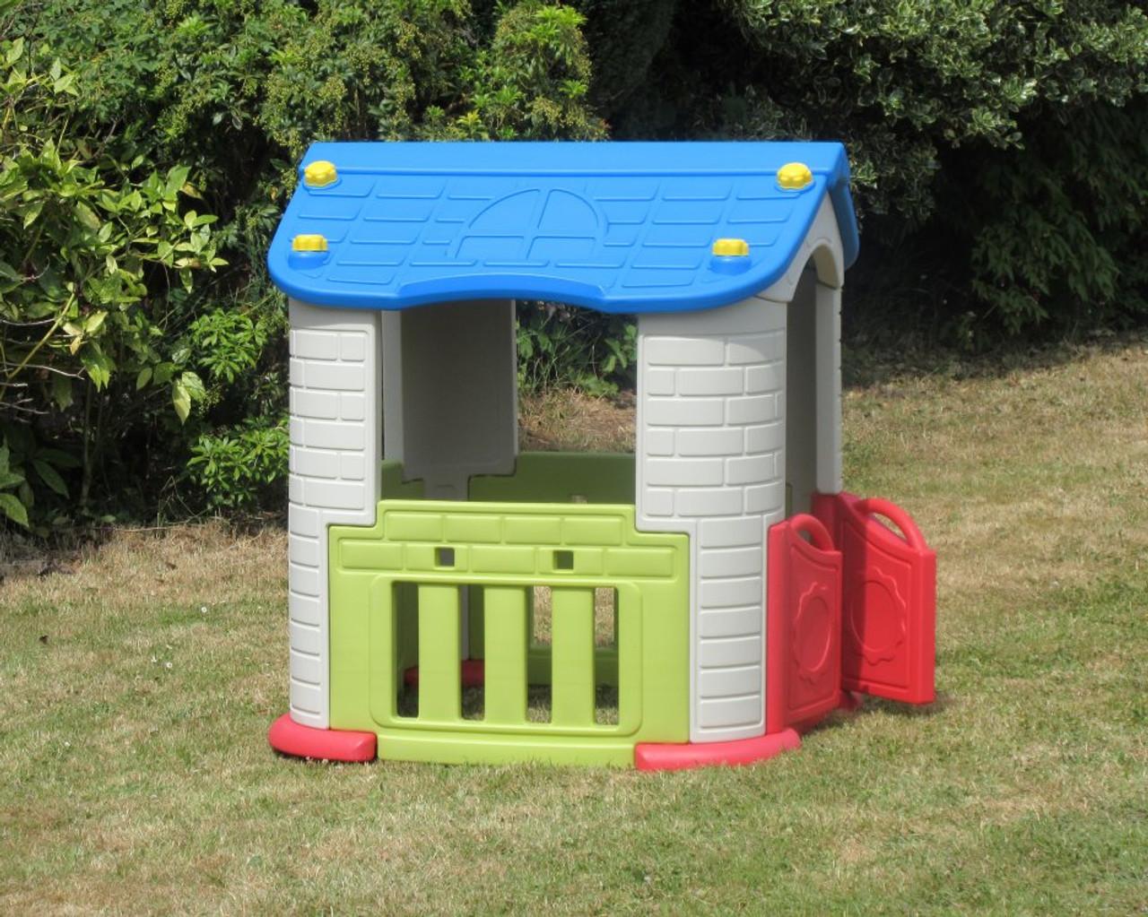 Sunshine Childrens Playhouse Purple Roof Pink Door