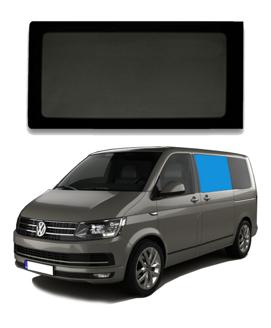 VW T5 T5.1 T6 Window Privacy Glass SLIDING//FIXED DRIVER /& PASSENGER