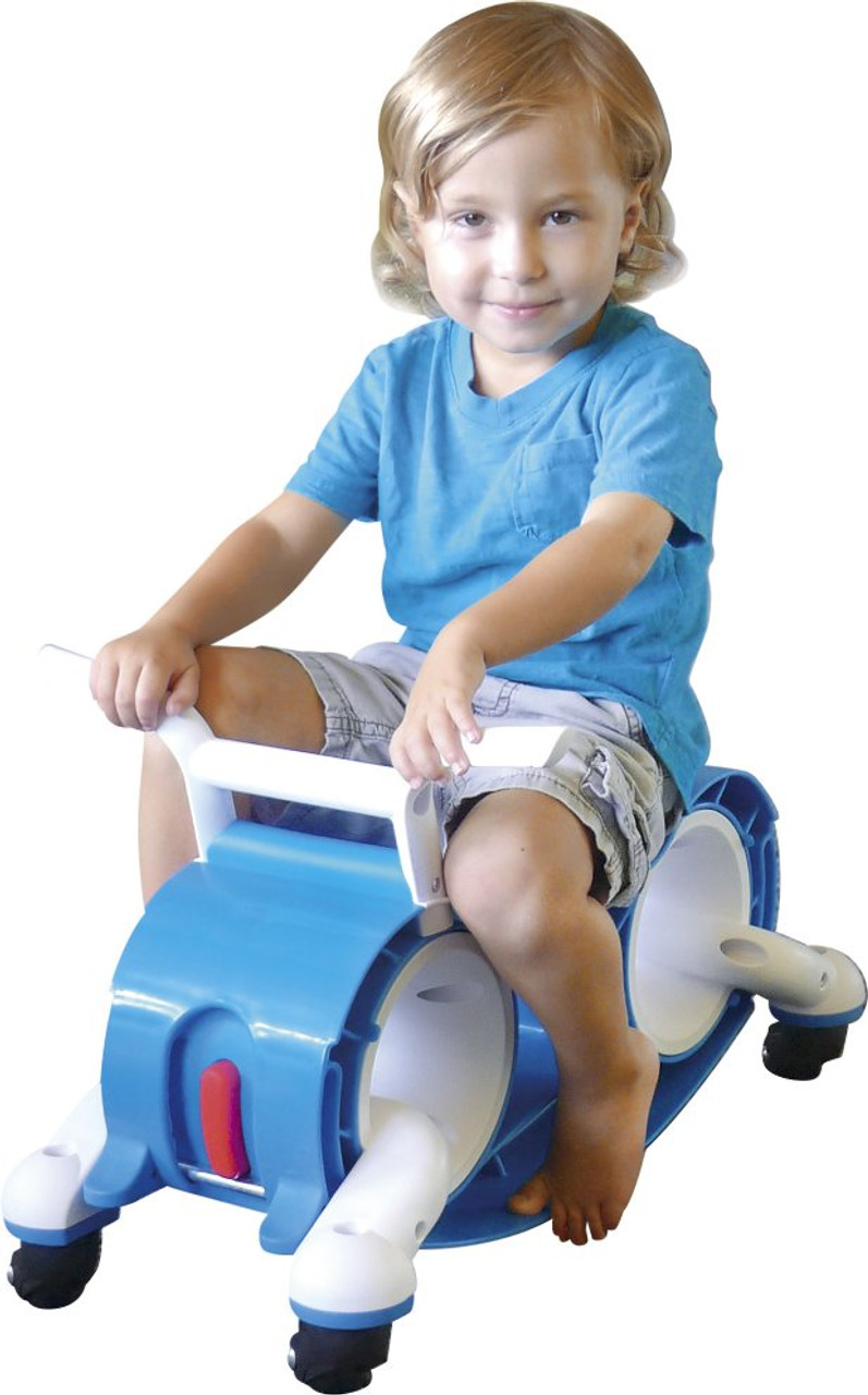 Boys blue ride on balance bike