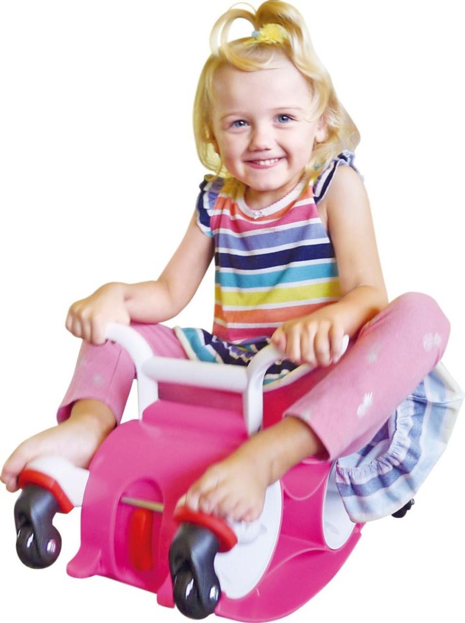 Girls pink balance car bike pink