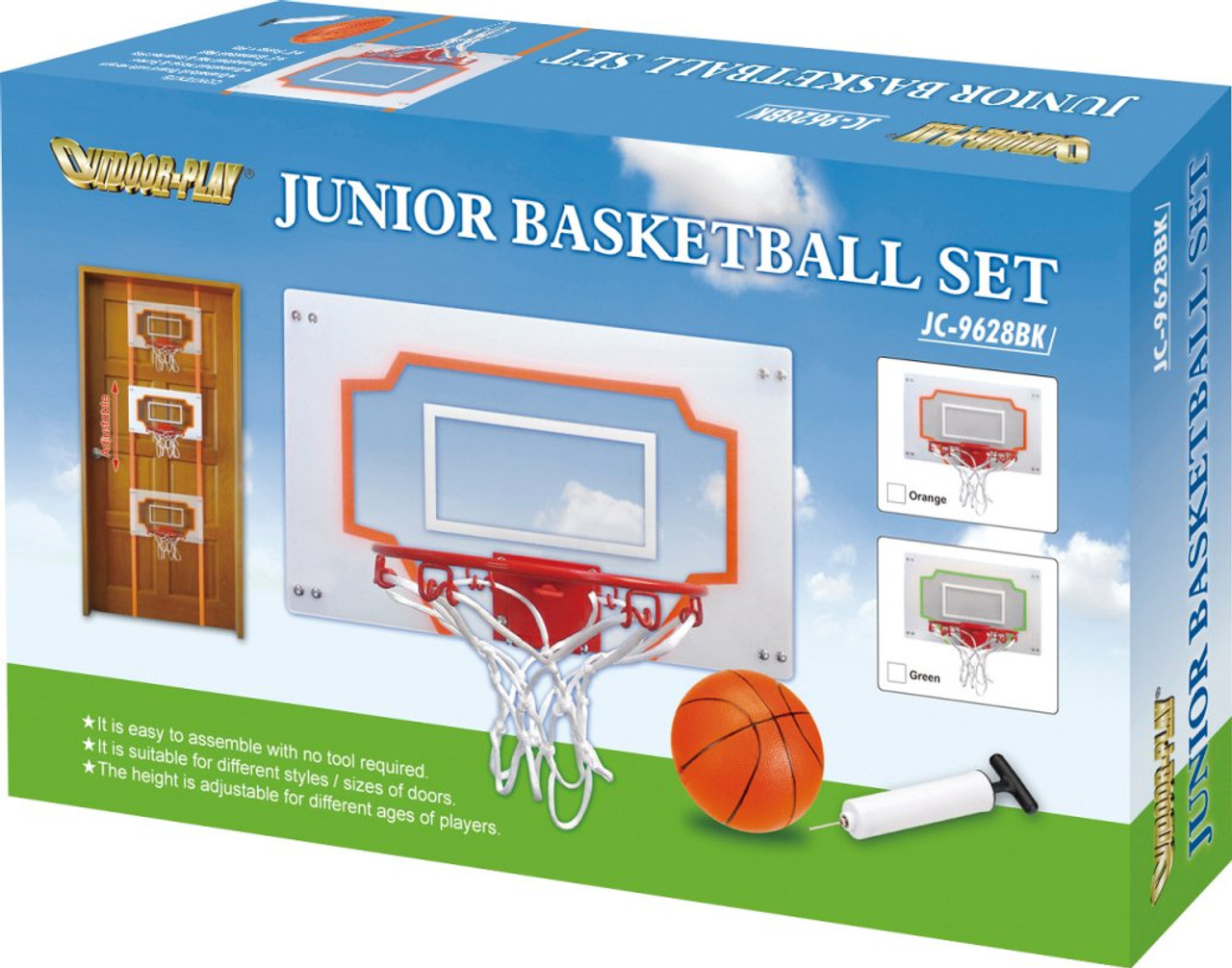 Childrens Indoor Basketball set easily attaches to the door