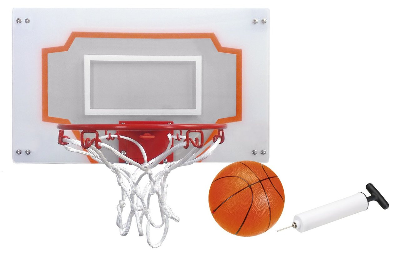 Kids Basketball set easily attaches to the door, easily adjust the height setting