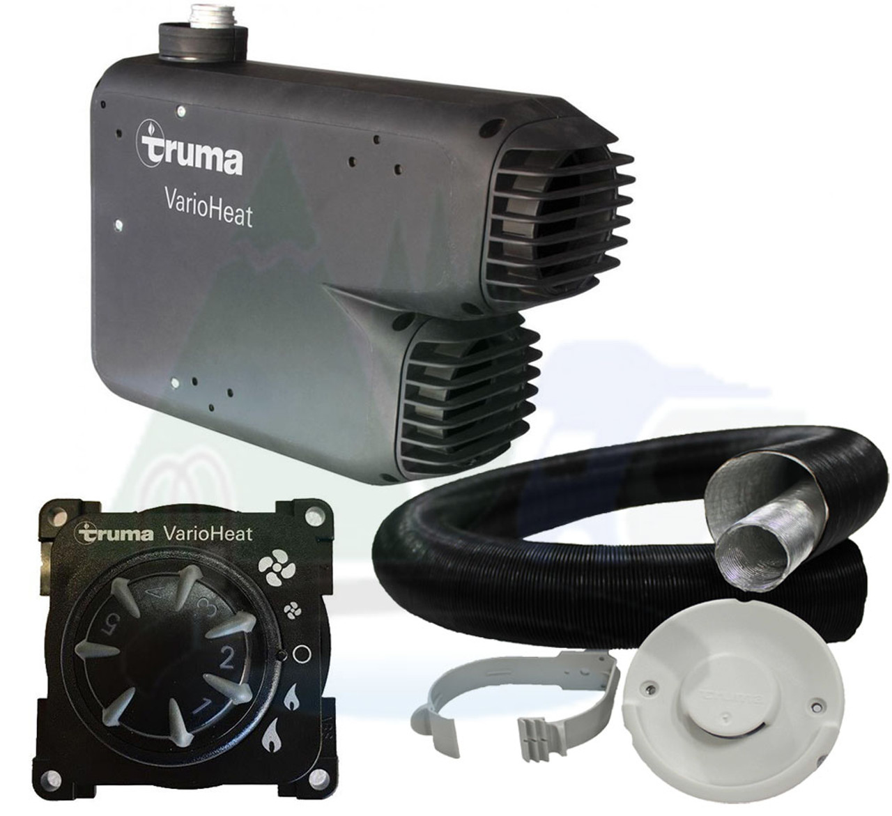 The Truma Varioheat space heater complete kit includes everything you need to get started for you campervan motorhome or caravan.