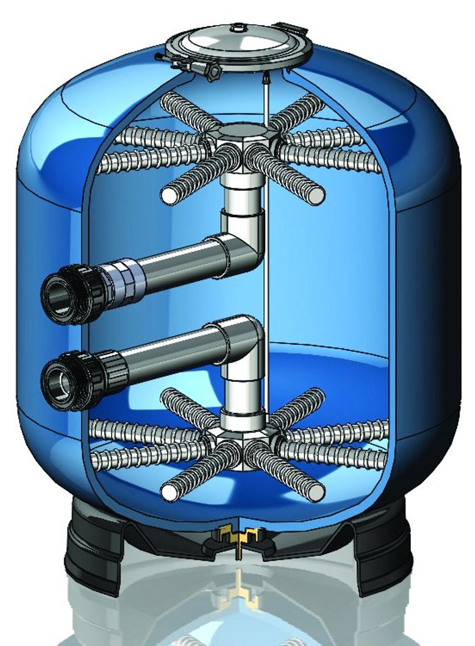 Certikin Domestic OC-1 swimming pool filter cut away