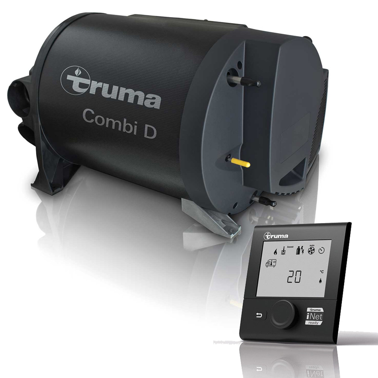 The Combi D6E complete kit from Truma includes all the required kit and assembly for installation of the water and space heater unit itself.