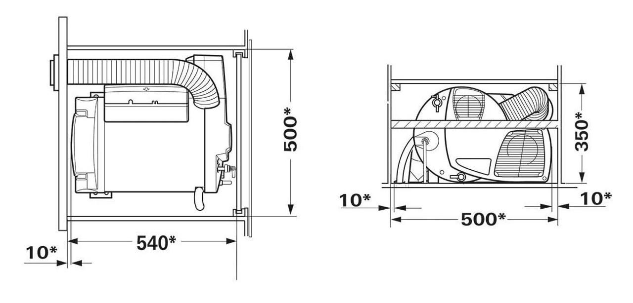 Truma 2E Combi dimensions