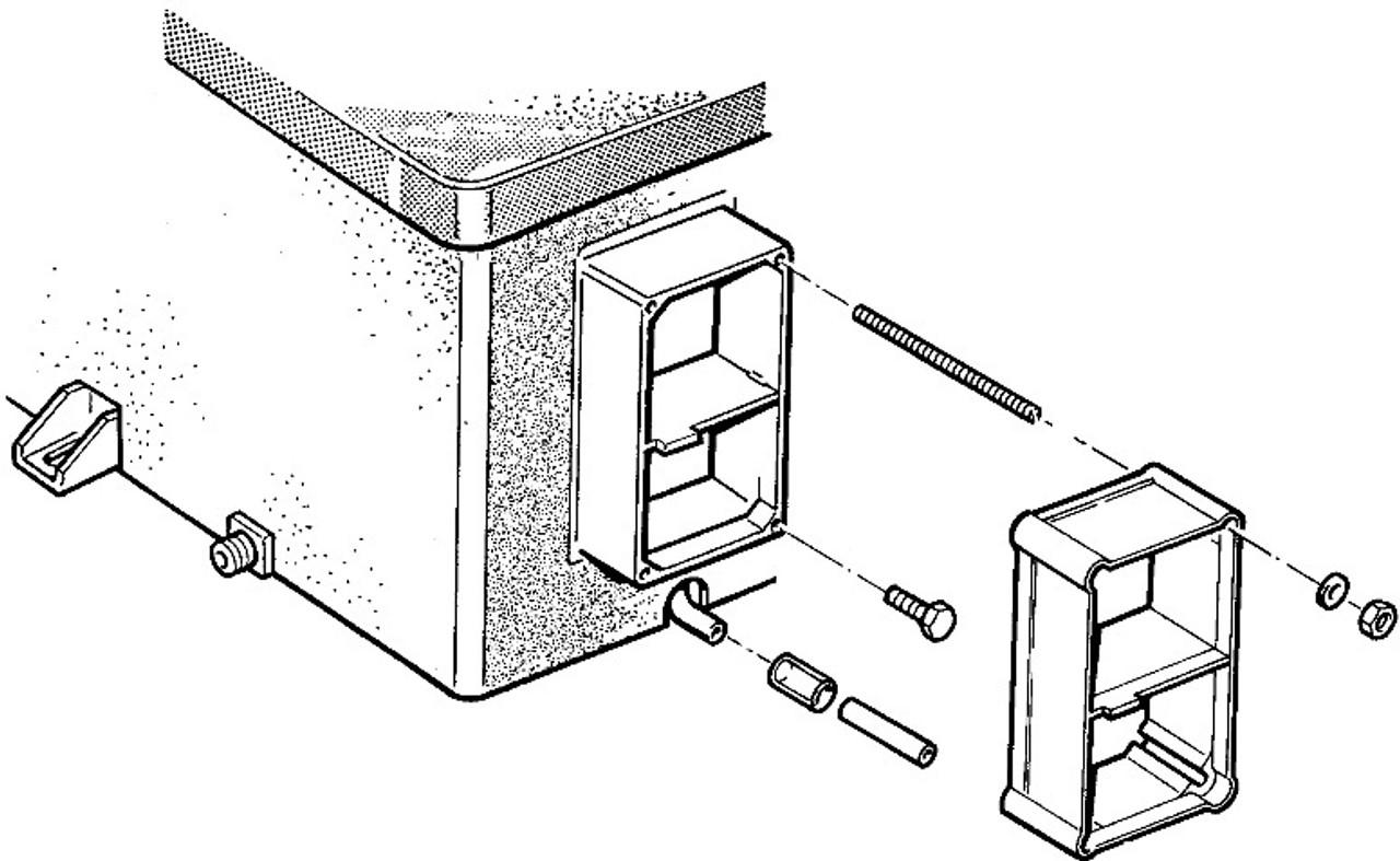 Truma Ultrastore Campervan Water Heater Cowl Extension Diagram