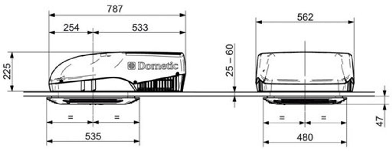 Dometic Freshjet 2200 Dimensions