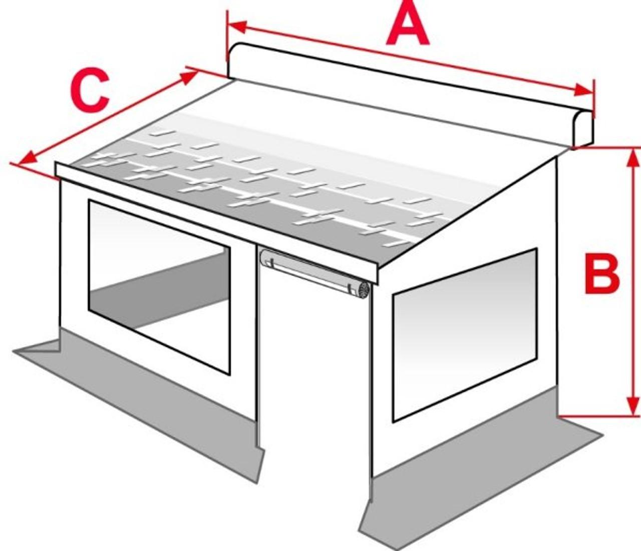 Fiamma F45 Privacy Room Dimensions