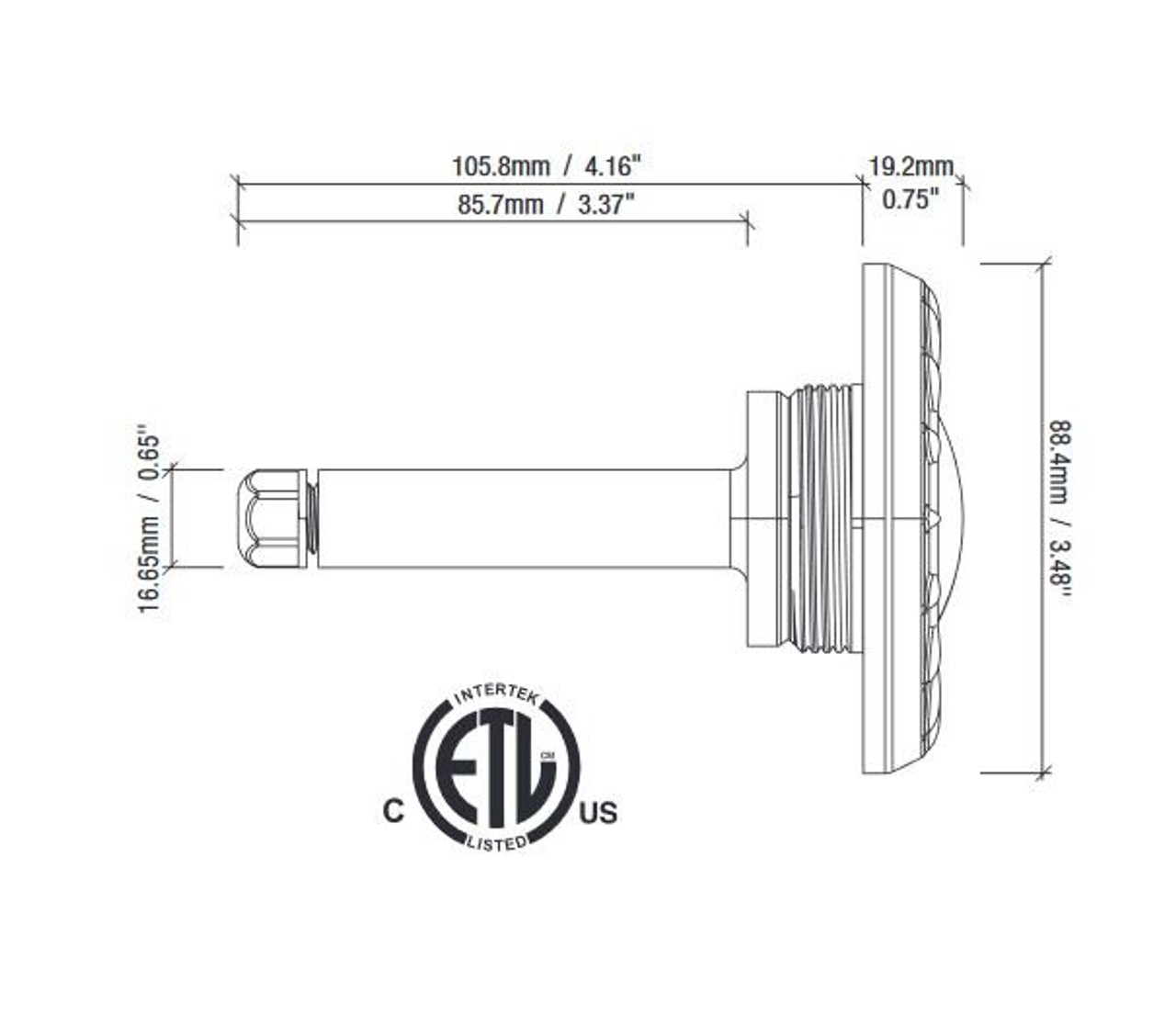 SR Smith Mod Lite dimensions