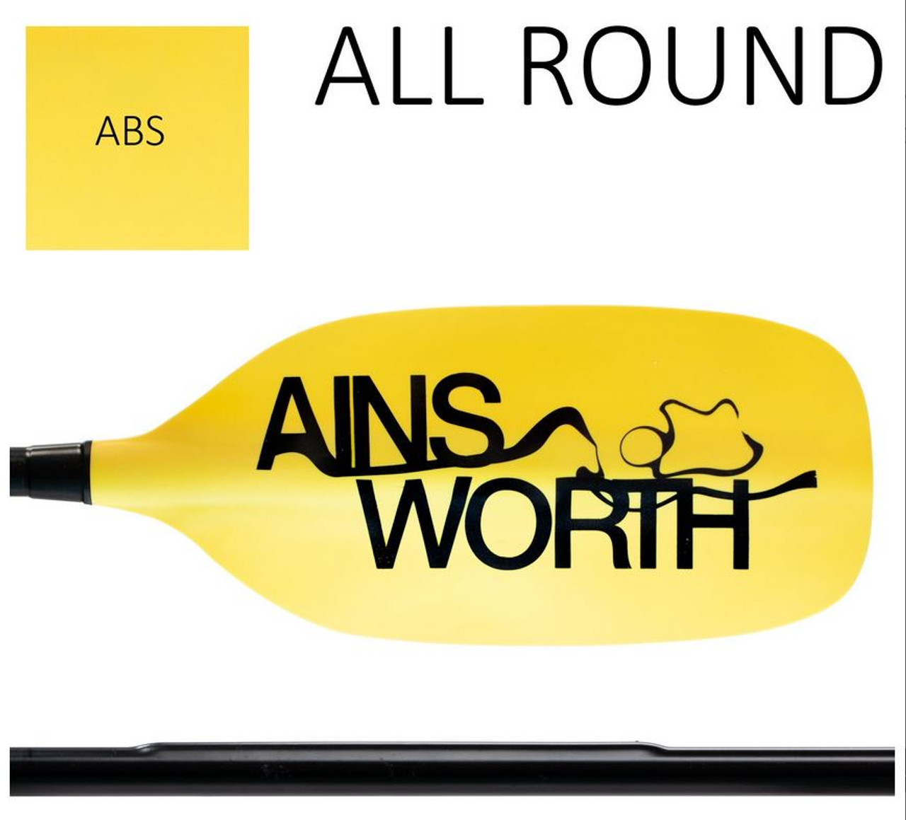 Ainsworth recreational touring paddle, one piece straight shaft, 210cm
