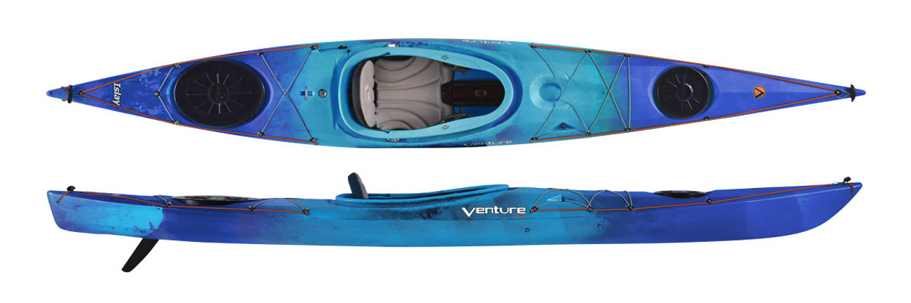 Pyranha Venture Islay 14 Adventure Touring Kayak. (Image shows LV version for smaller/lighter paddlers)