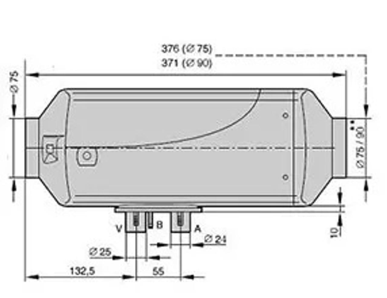 Eberspacher Airtonic D4 Motorhome Horsebox Diesel Heater DIMS length