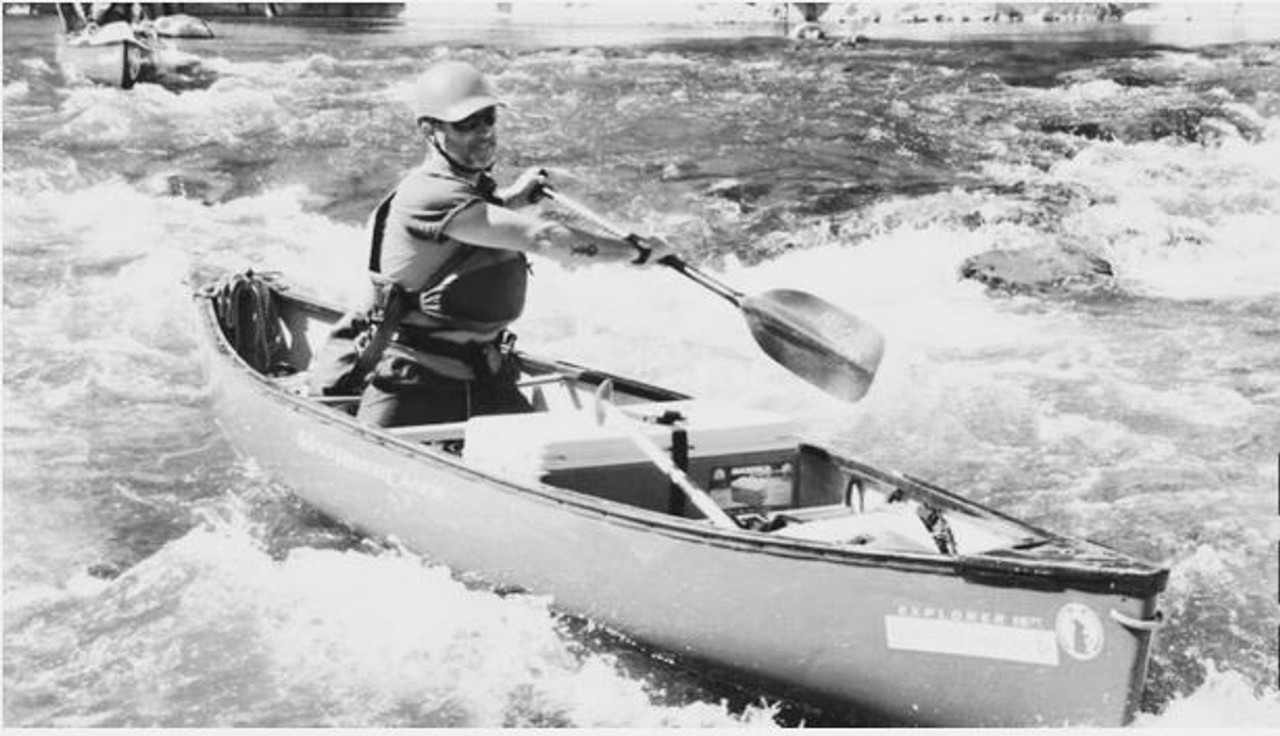 Ainsworth's canoe paddle in action