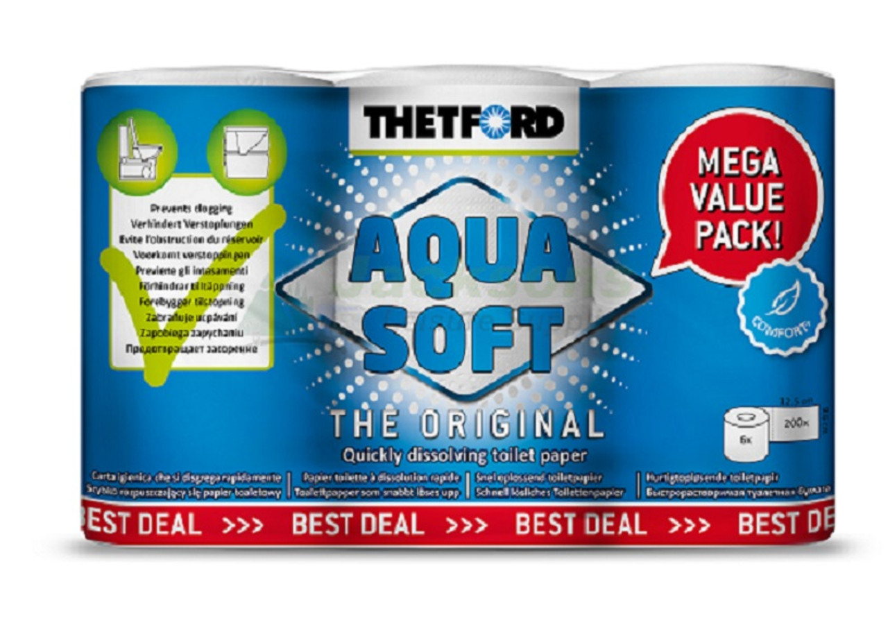 Thetford Aqua Soft Caravan Camping Toilet Rolls 6 pack