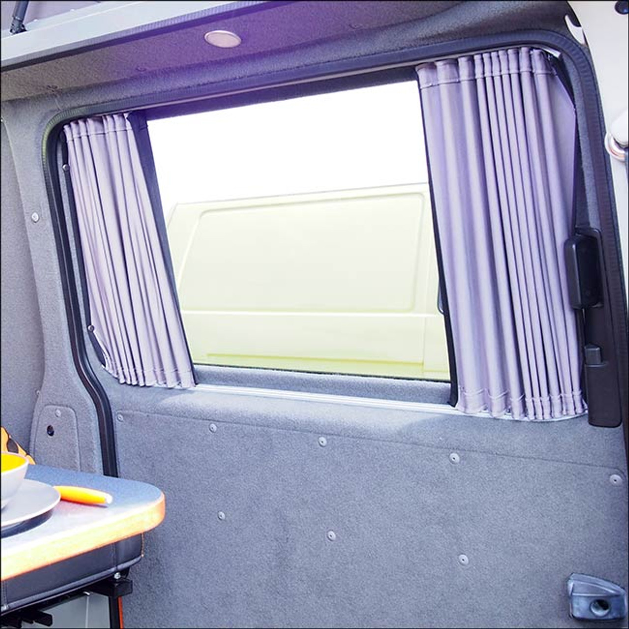 Complete Blackout Curtain Kit For Vw T5 Transporter Campervan With Barndoors