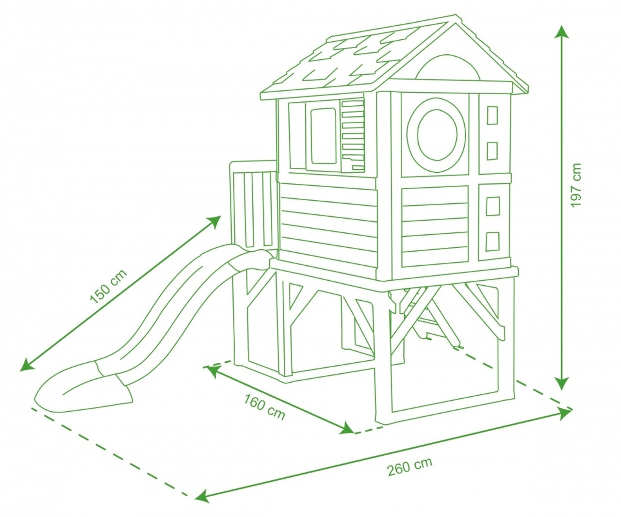 Smoby House on Stilts Dimensions