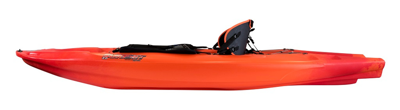 Pyranha Surfjet sit on top kayak with optional surf brace and seat