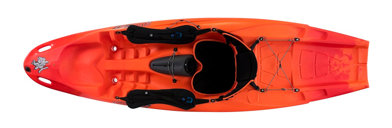 Pyranha Surfjet 2.0 sit on top kayak with optional surf brace and high back seat