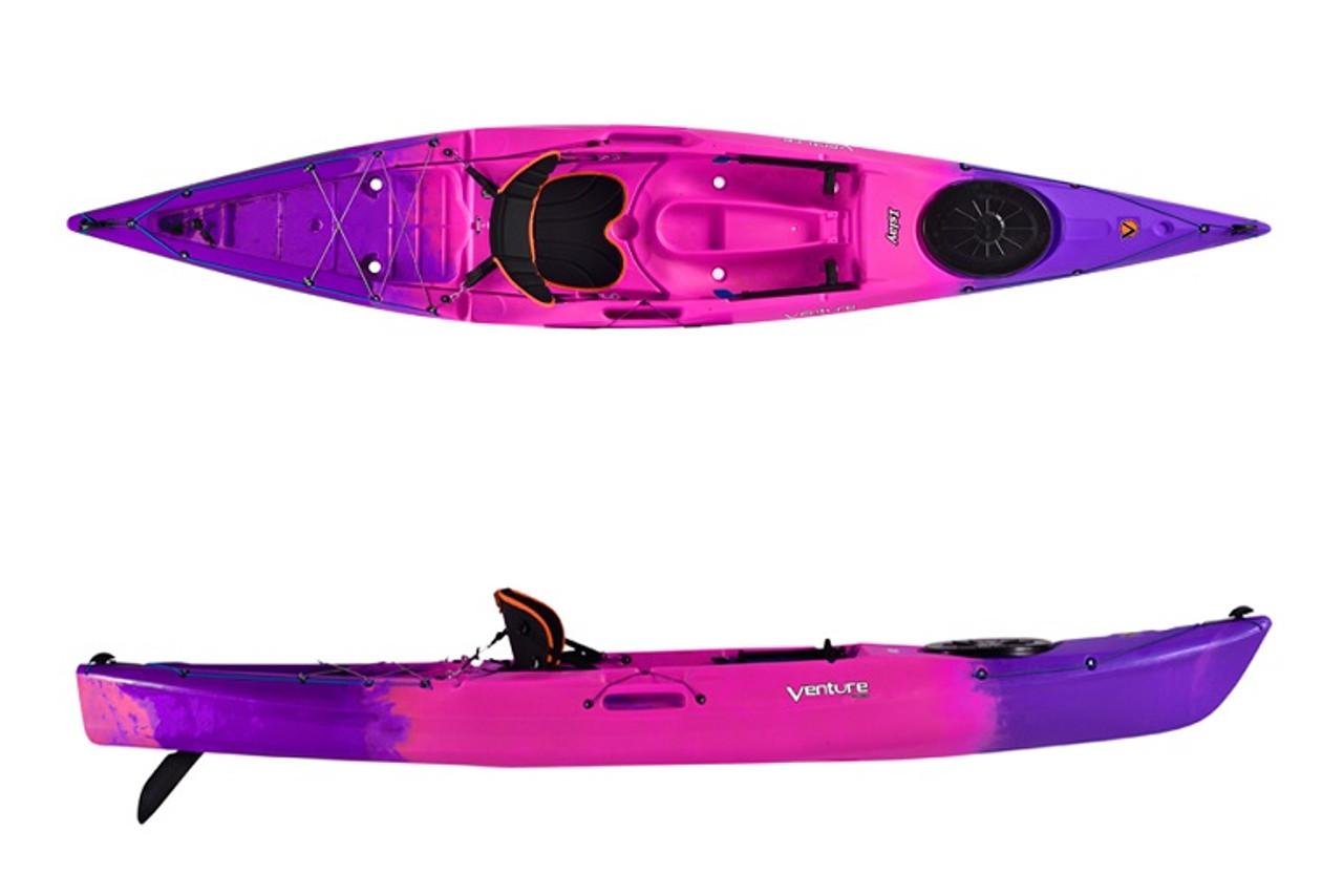 Venture Islay 14 recreational SOT kayak in pink fizz