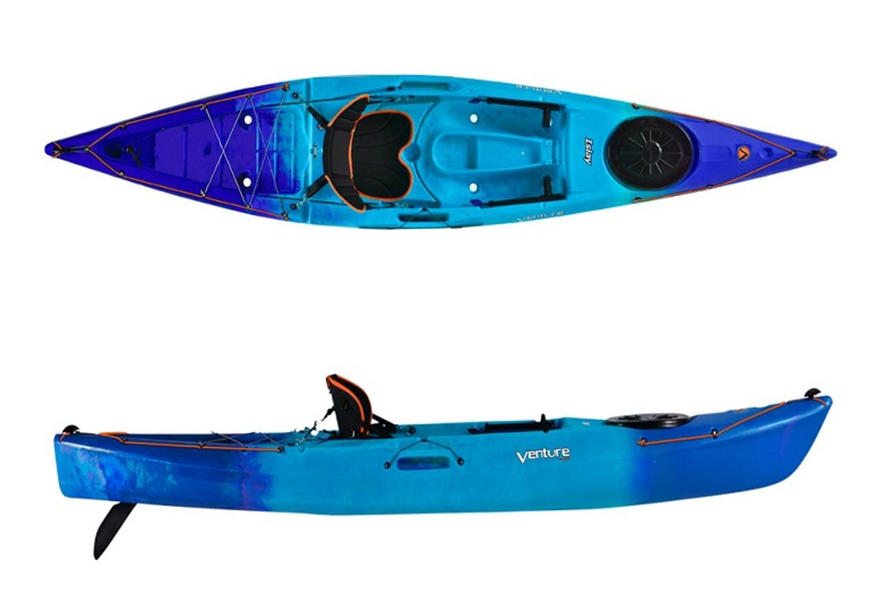 Venture Islay 14 touring sit on top kayak in blue crush