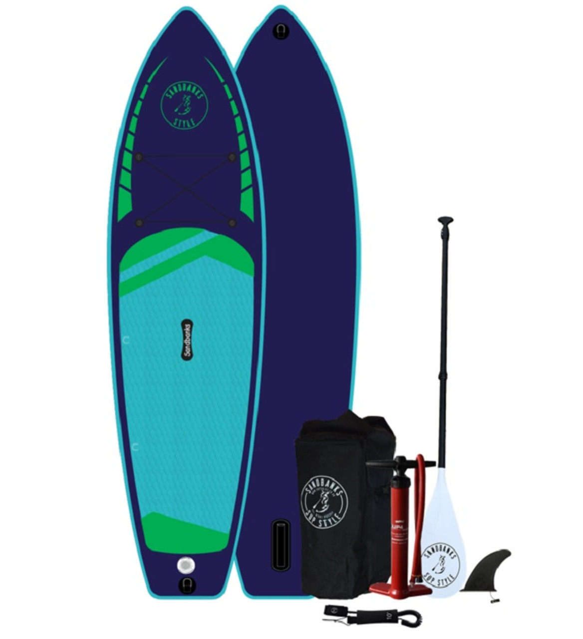 Sandbanks Elite paddle board in midnight blue