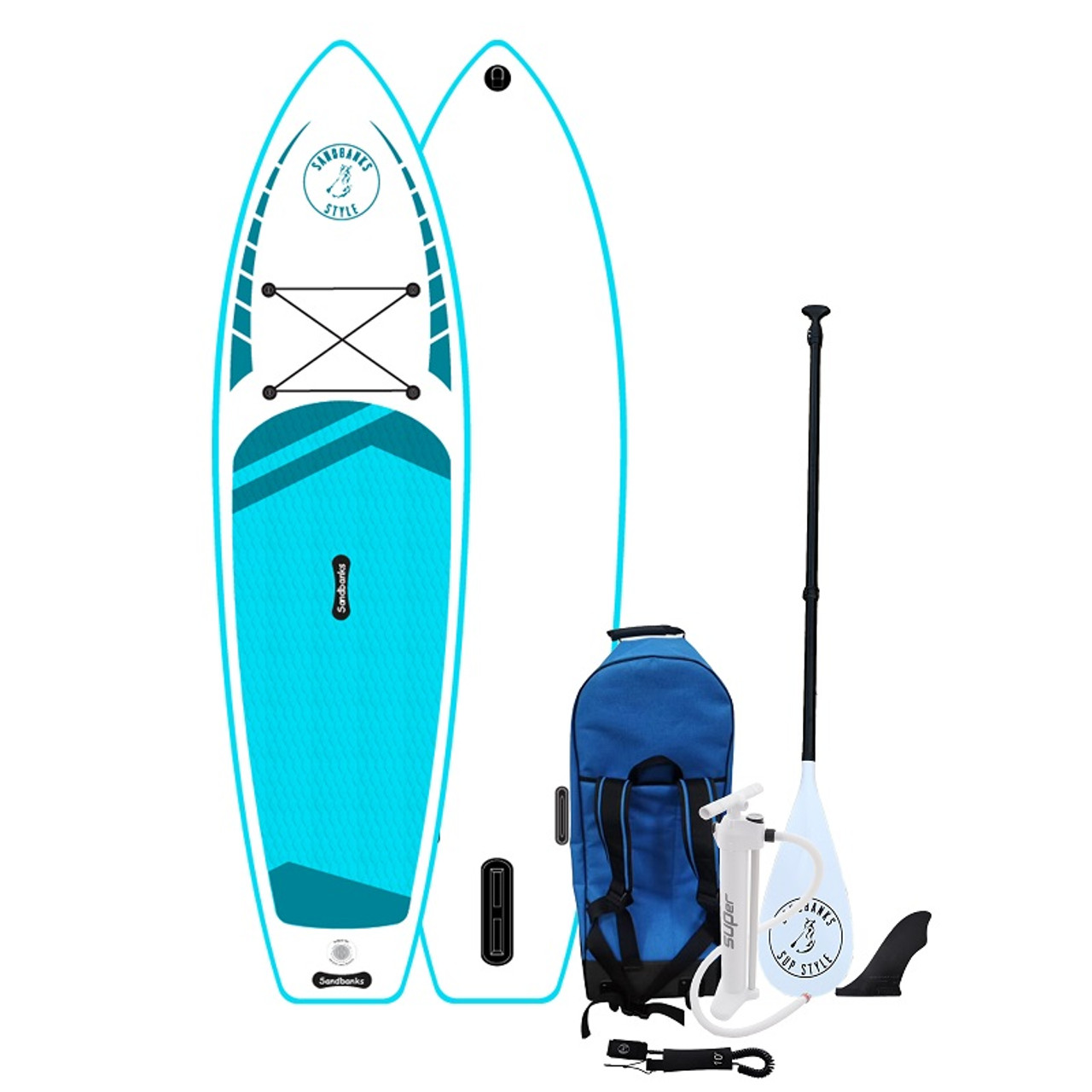 Sandbanks SUP Style Elite 10.6 paddle board turquoise