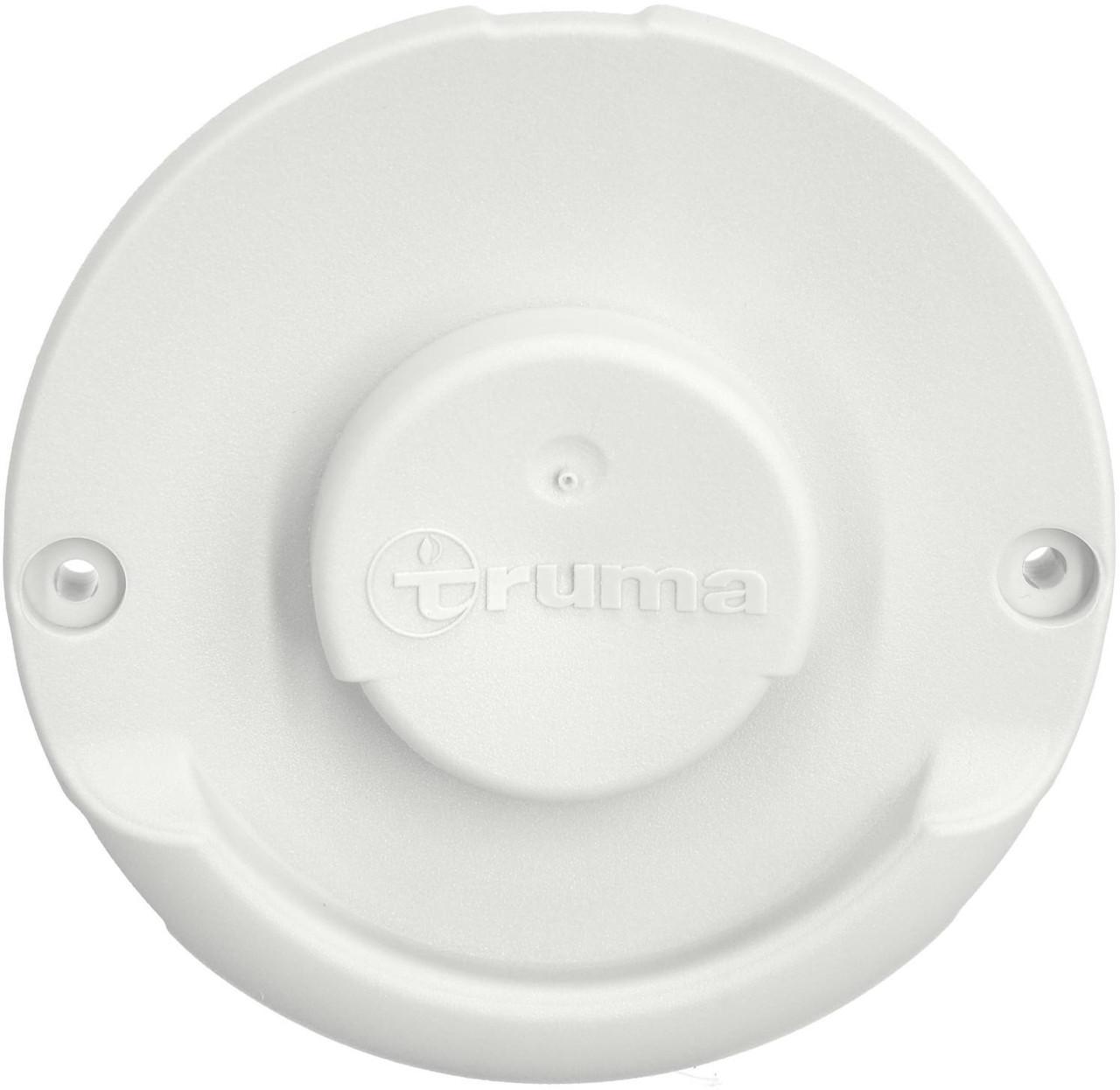 Truma white cover plate for exterior exhaust cowl