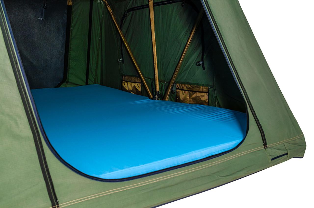 Thule luxury mattress inside roof tent