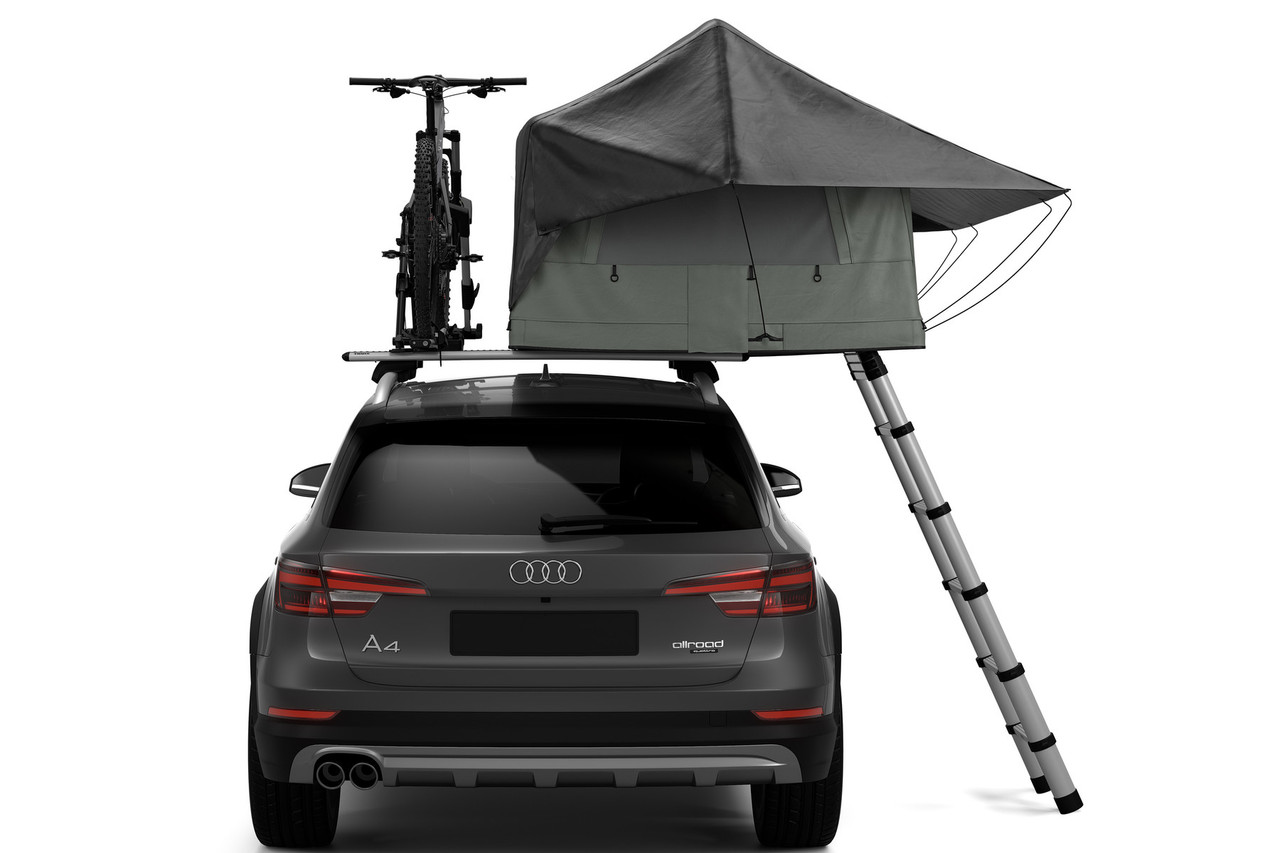 Thule Tepui Foothill tent rear view on car