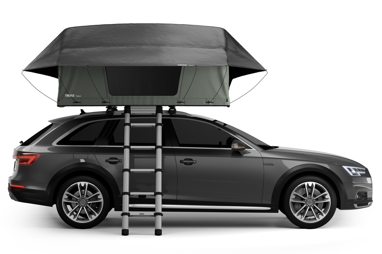 Thule Tepui Foothill roof tent side profile with ladder