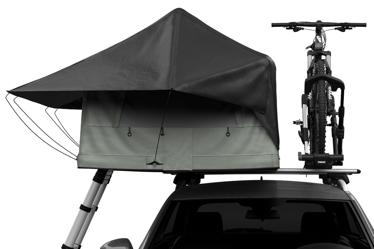 Thule Tepui rooftop tent with bike