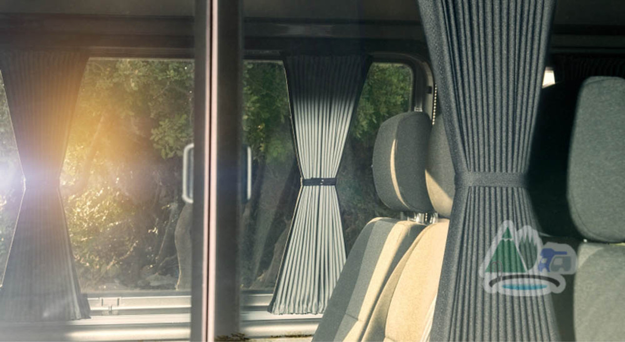 Pleated blackout camper curtains