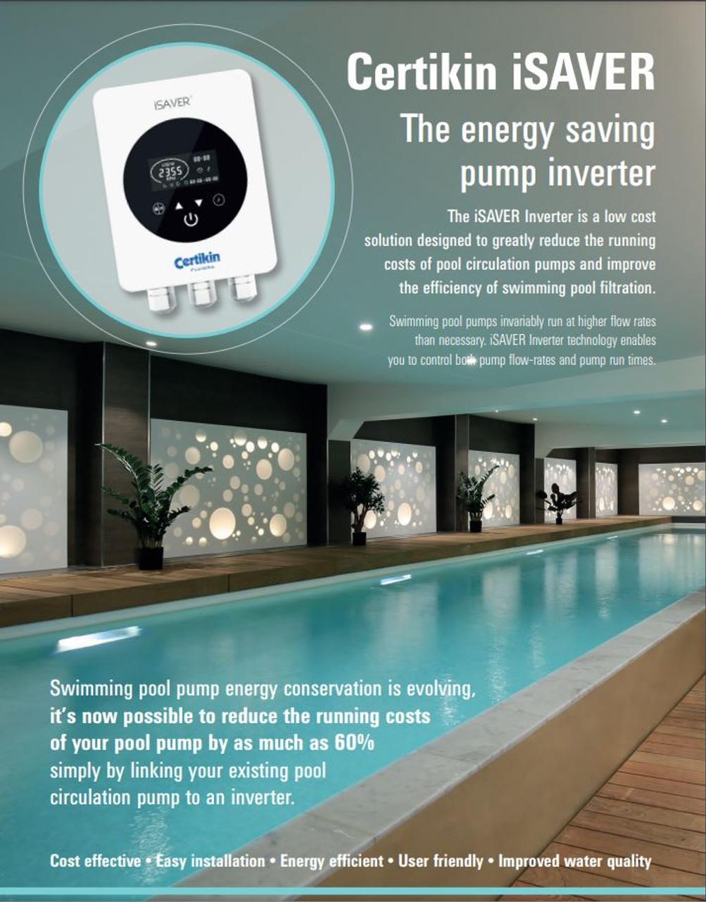 Certikin iSAVER pool pump controller brochure
