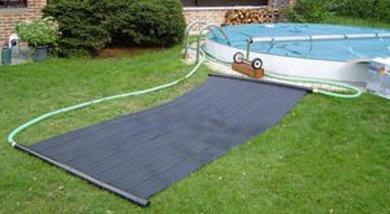 Swimming pool solar matting with above ground pool