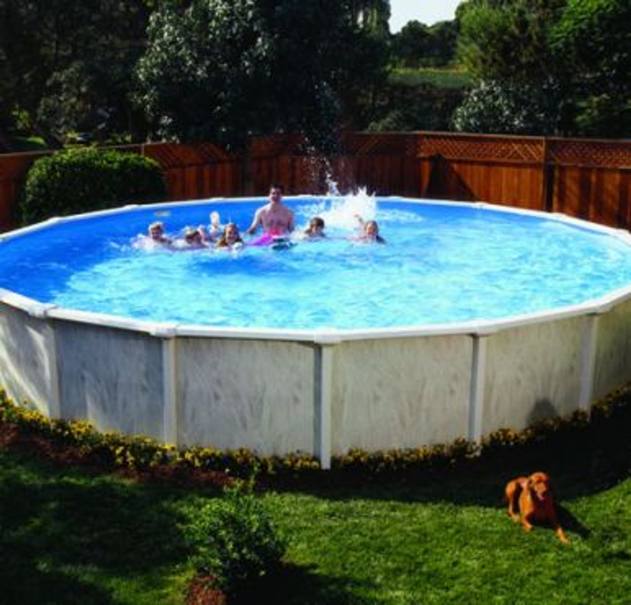 The Doughboy Regent Above Ground Round Swimming Pool