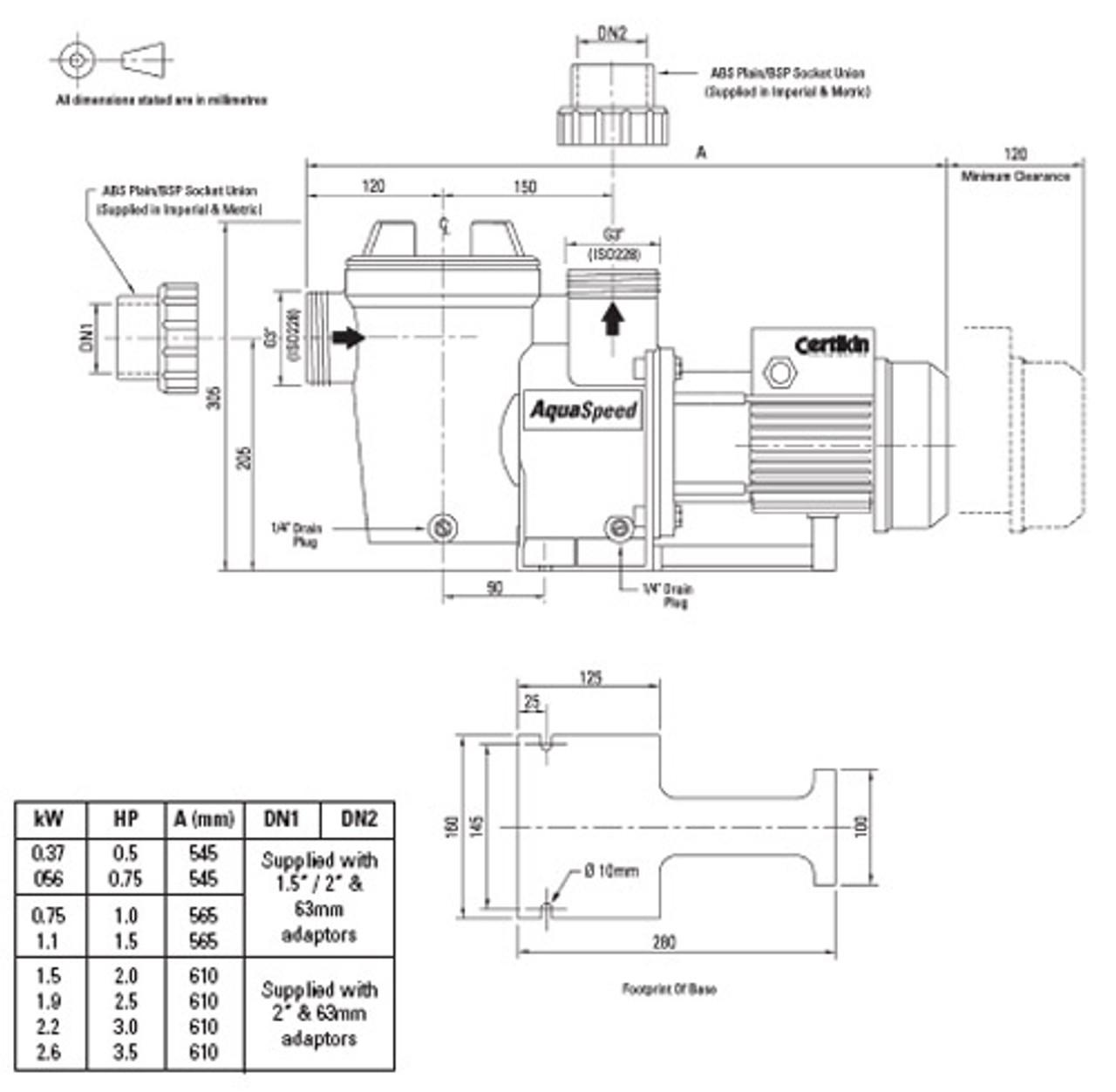 Certikin Aqua Speed Diagram