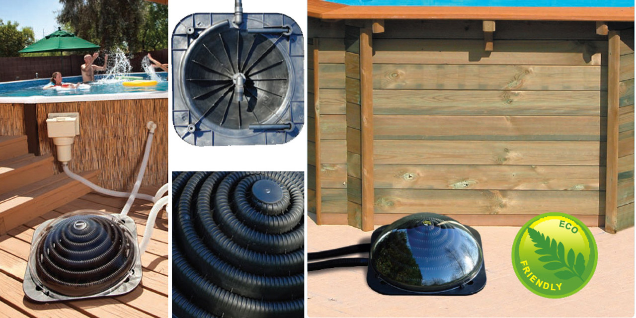 More installation examples of the Swimming Pool Solar Heating Pod Plus.