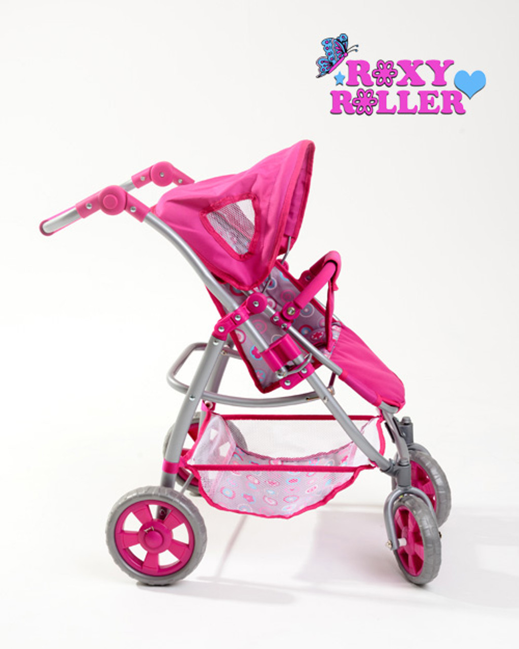 Roxy Roller 3-in-1 Dolls Pushchair Pram and Car Seat Travel System