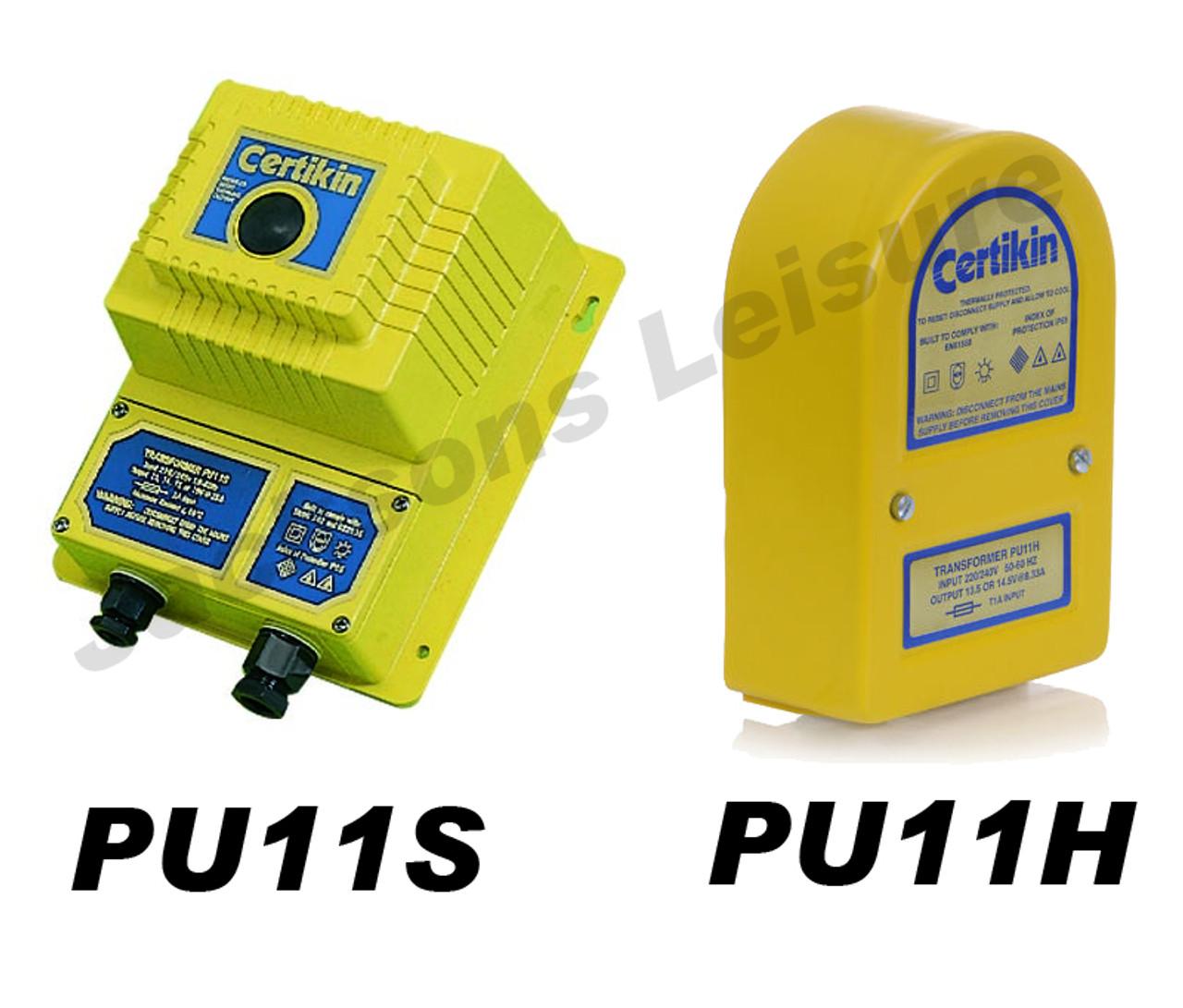 Certikin PU11S & PU11H light transformer