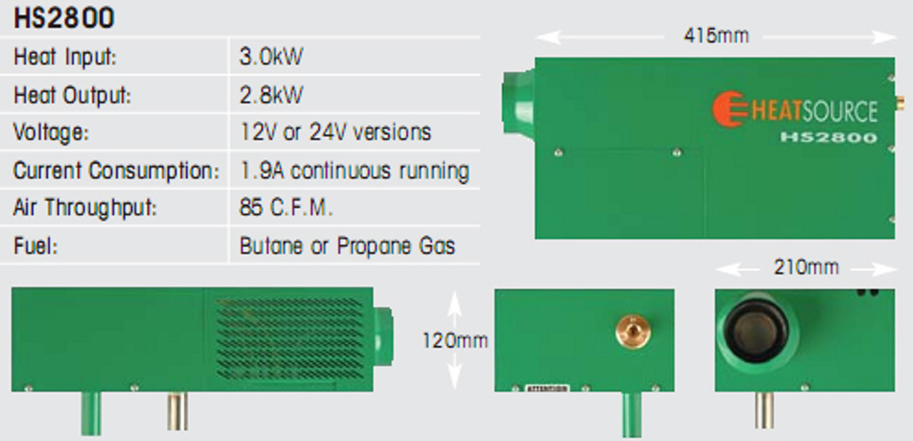 Propex Heater HS2800 Specifications