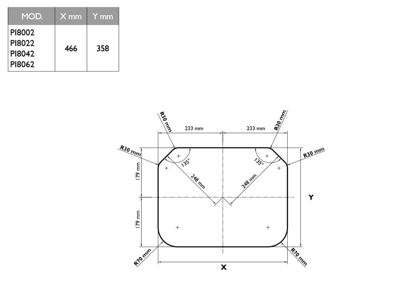 Dometic-Smev PI 8022 Caravan Motorhome 2 Burner Hob