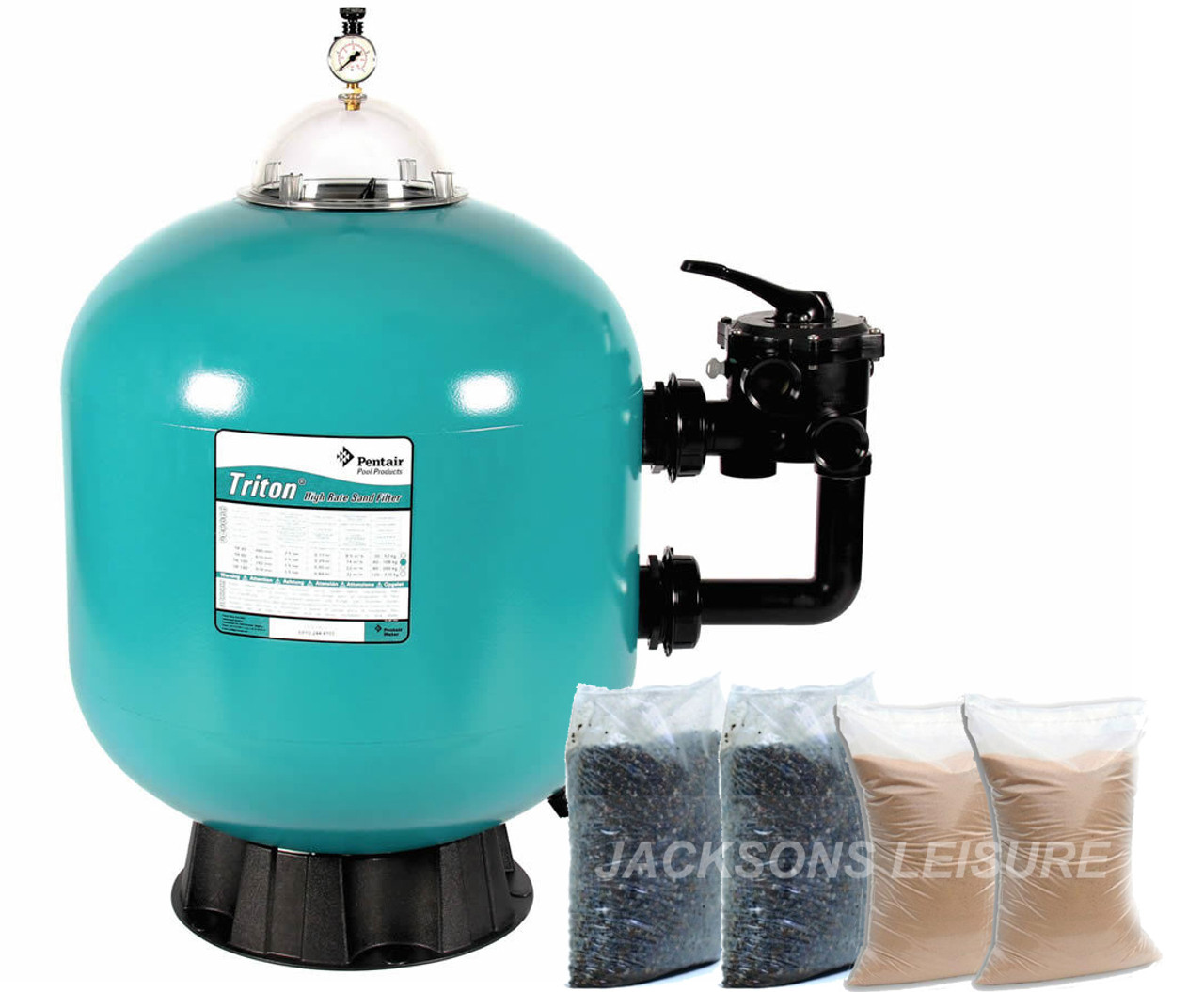 Pentair Triton Swmming Pool filter and filter sand gravel