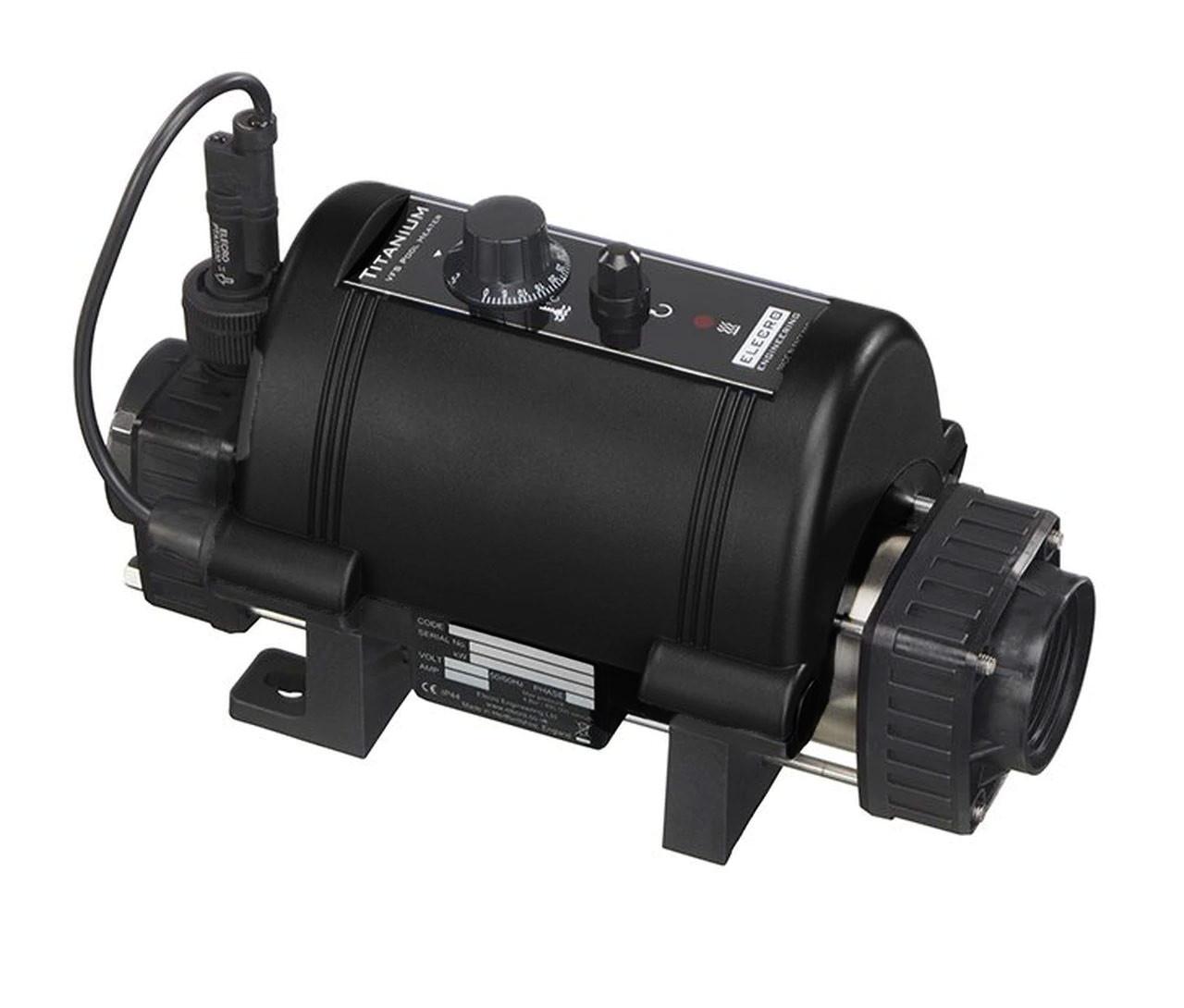 Elecro Nano black pool heater 3kw